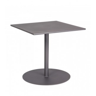 11l3sd30 30x30 square Solid Top Restaurant Dining Table with Pedestal Base Commercial Wrought Iron